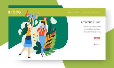 Family health, pediatric clinic landing web page
