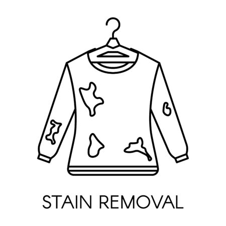 Stain removal service, dirty sweater with mud on it