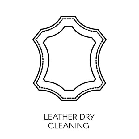 Leather dry cleaning service of company, sample of cloth