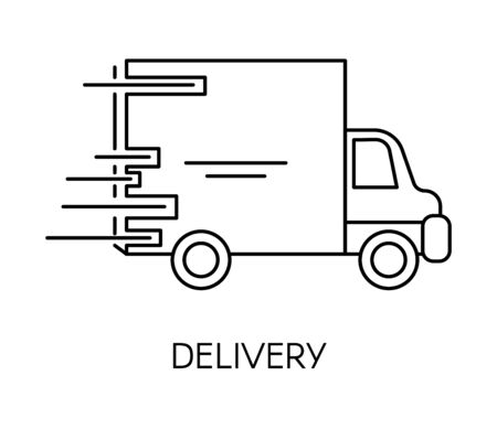 Delivery and fast shipping service of shop or company