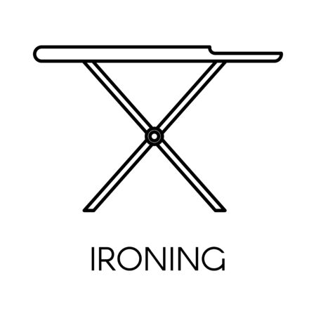 Ironing service of cleaning company, board linear icon