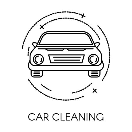 Car cleaning service of company, clean transport icon
