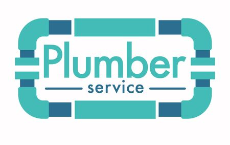 Plumber service isolated icon, house plumbing repairing works Illustration