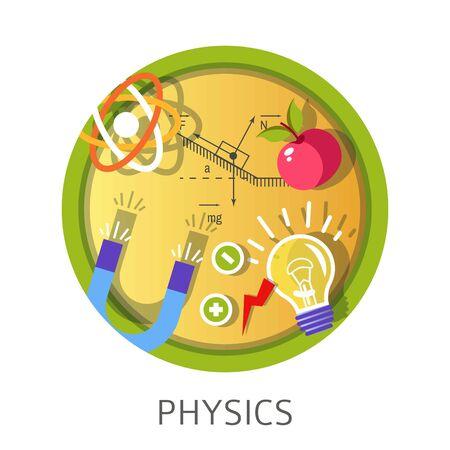 Physics science subject studies themed concept Ilustração