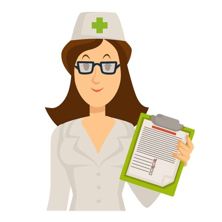 Check up with medical specialist in white uniform and health examination