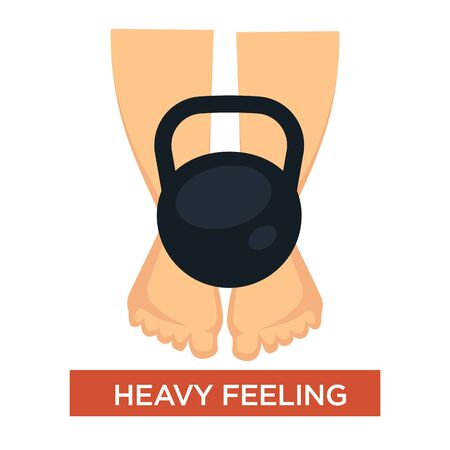 Heavy feeling in legs symptom with feet weighed down and swollen