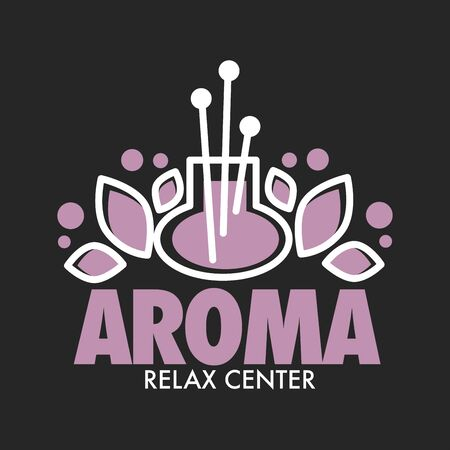 Aroma relax center vector graphic logo for aromatherapy and spa salon