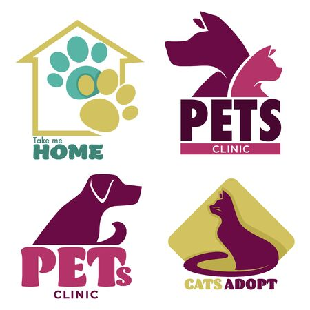 Take me home animal shelter and pets clinic graphic logo