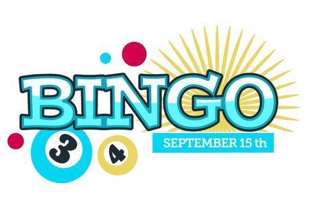 Bingo game event logo and banner with dates