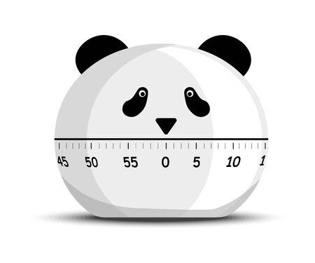 Digital kitchen panda timer and minutes countdown reminder device 일러스트