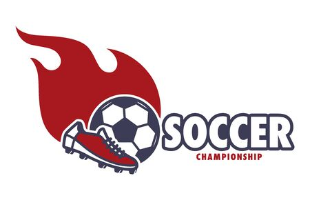 Soccer championship, football match, win prize isolated icon