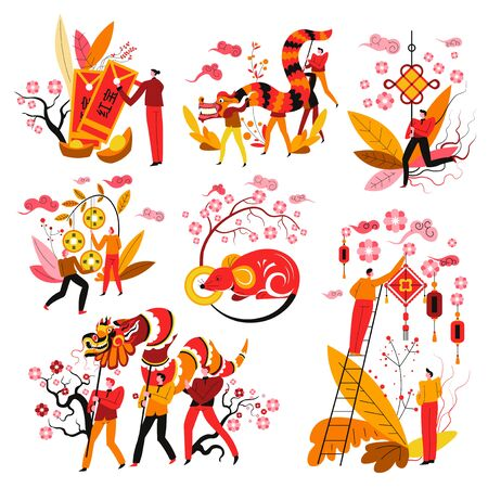 Chinese New Year symbols, Feng Shui mascots and zodiac sign
