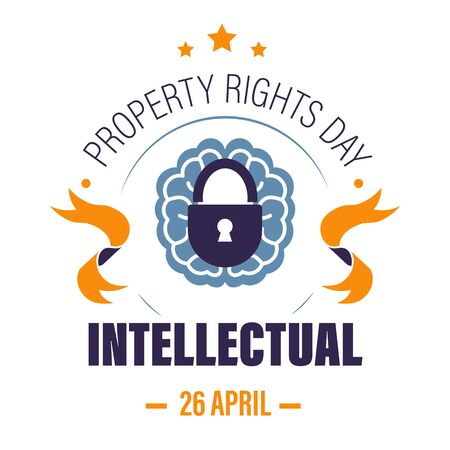Copyright or intellectual property rights day isolated icon Illustration