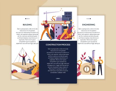 Construction building and engineering online web page templates