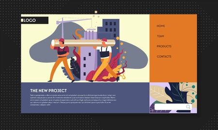 Building project and construction works web page template