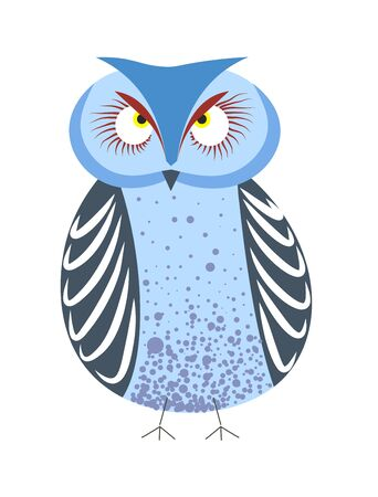 Wildlife owl from wild forest bird with blue plumage