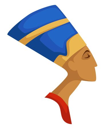 Nefertiti isolated profile Egyptian queen ancient civilization Banque d'images - 132952555