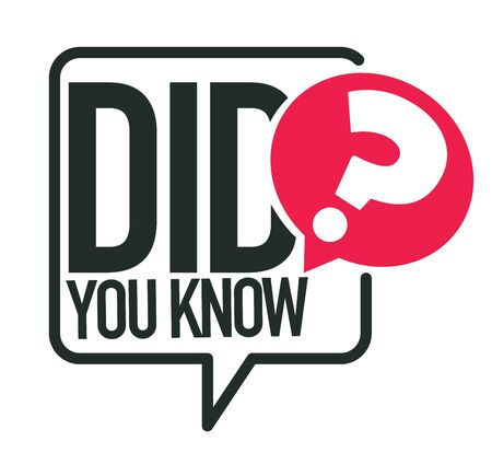 Did you know question or interesting fact isolated icon