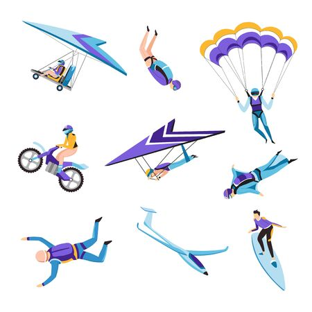 Extreme air and motor or water sport flying and jumping or riding