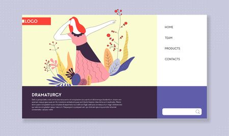 Dramaturgy drama classes online course web page template