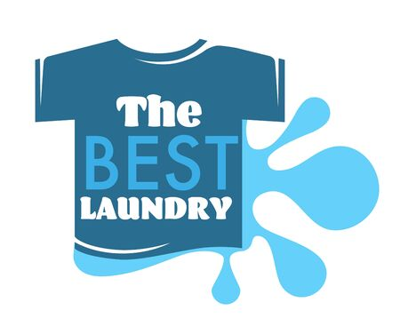 Best laundry T-shirt and water splash isolated icon
