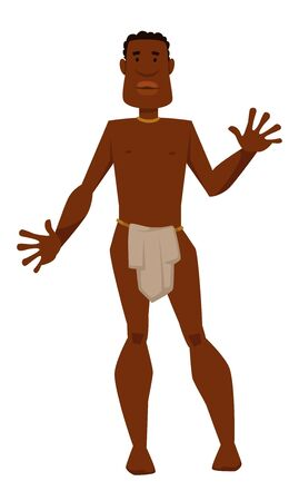 African man tribe member in loincloth ethnicity or nationality