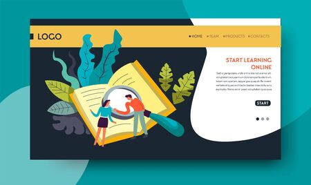 Leaning online distant education web site template