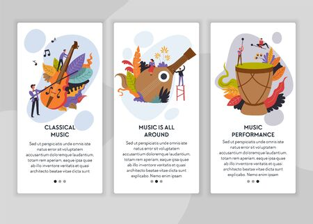 Classical and folk music performance web page templates
