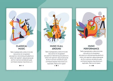 Classical and jazz music performance web pages templates
