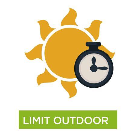 Limit outdoor time sunburn and sunstroke preventive measures