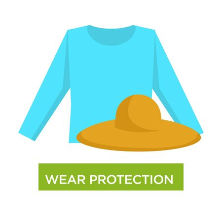 Wear protection from sunburn and sunstroke medical advice
