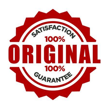 One hundred percent original and satisfaction guarantee stamp