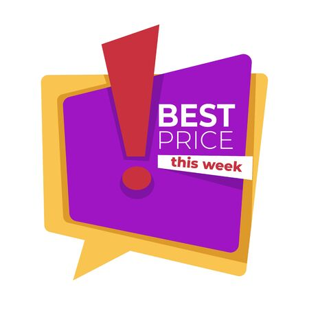 Best price this week discount and sale banner template Stock Illustratie