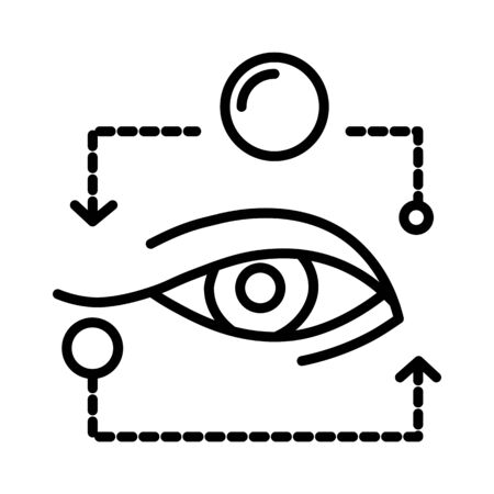 Eye isolated line icon, ophthalmology and eyesight treatment Foto de archivo - 133436431