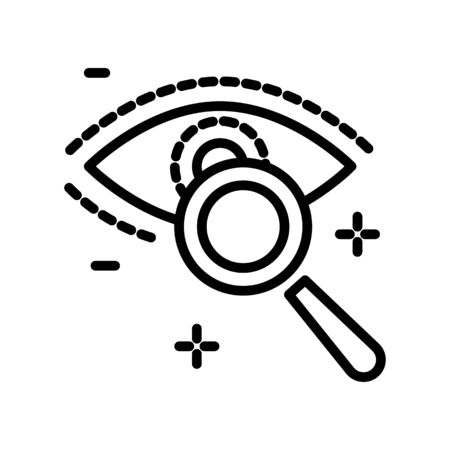 Eyesight and eye clinic, sight or vision examination, isolated icon Banque d'images - 133436433
