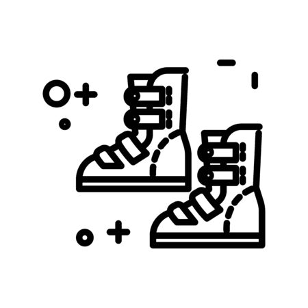 Injury rehabilitation, foot and ankle brace isolated line icon
