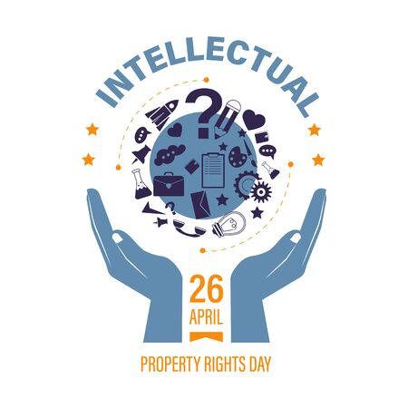 Copyright or intellectual property right day isolated icon