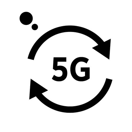 Internet connection, 5G wireless network isolated line icon