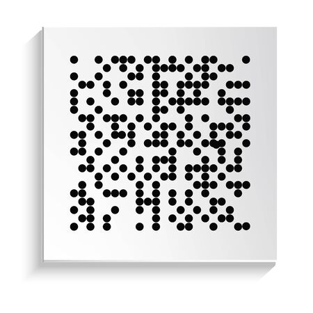 Blind writing and reading system, Braille alphabet isolated icon