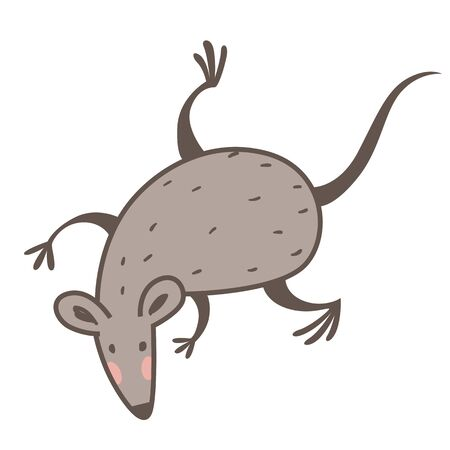 Mouse or rat isolated icon, 2020 Chines New Year symbol 写真素材 - 133638654