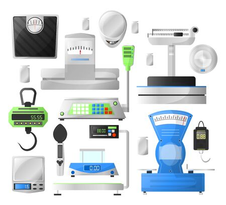 Weighting scales collection of traditional mechanical and modern digital devices