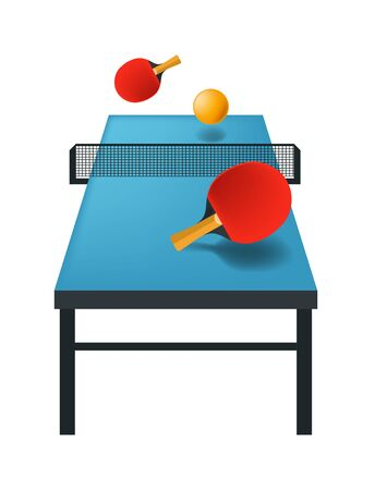 table tennis isolated icon, sport game equipment
