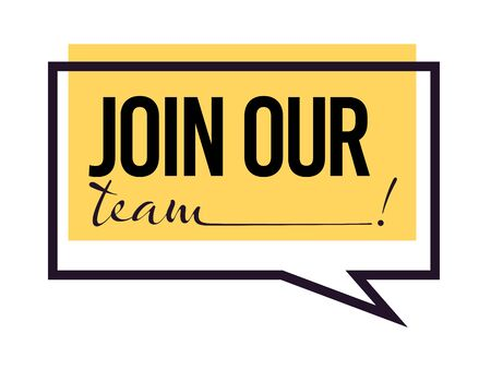 Join our team, hiring isolated icon, recruitment and employment
