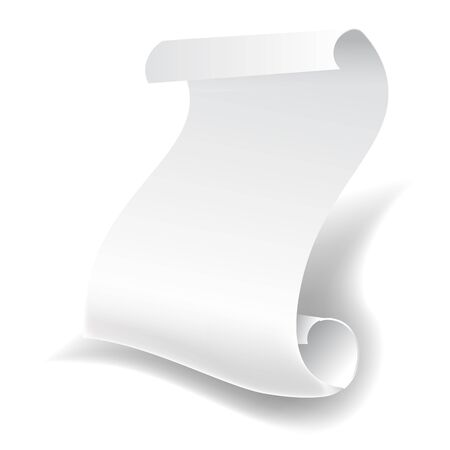 Sheet of paper isolated 3D object, printing material or scroll 向量圖像