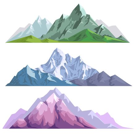 Landscape constructor set with mountains of different colors