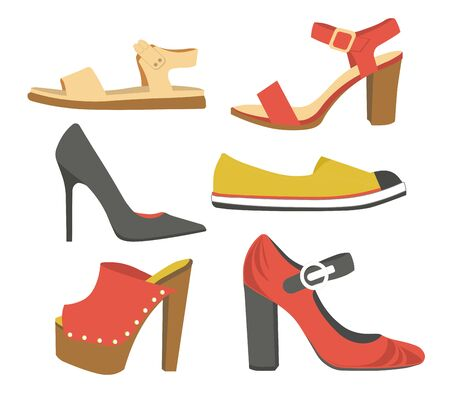 Shoes and sandals women spring or summer footwear collection