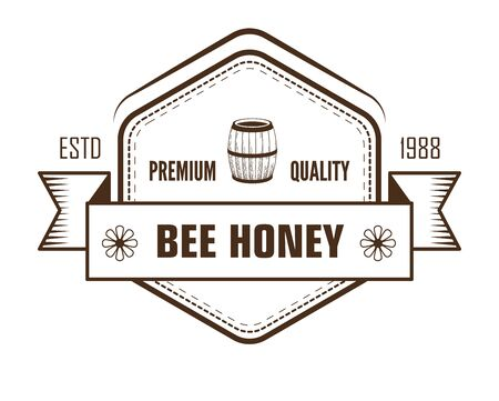 Honey isolated sketch icon, farm product and apiary Ilustrace