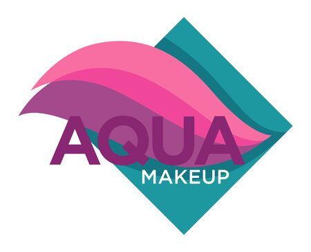 Natural cosmetics, aqua makeup isolated icon, color samples