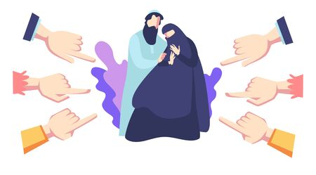 Discrimination and racism to Arab family, social violence and bullying