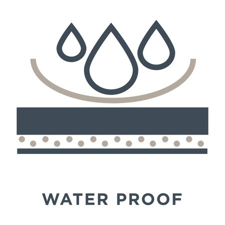 Waterproof mattress isolated icon, water repellent materials